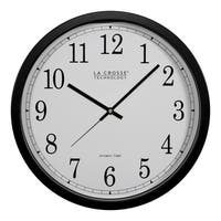 La Crosse Technology WT-3143A 14 Inch Black Atomic Analog Wall Clock