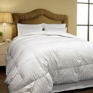 all comforter striped goose oversized season weight power oversize white fill down