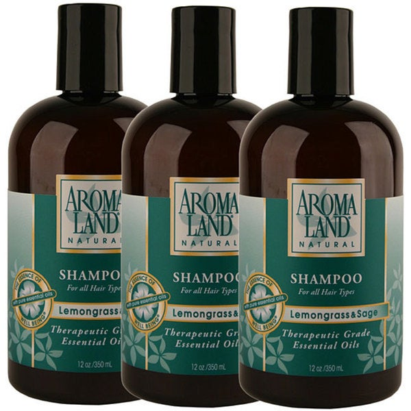 Aromaland Lemongrass and Sage 12-ounce Shampoo (Pack of 3)