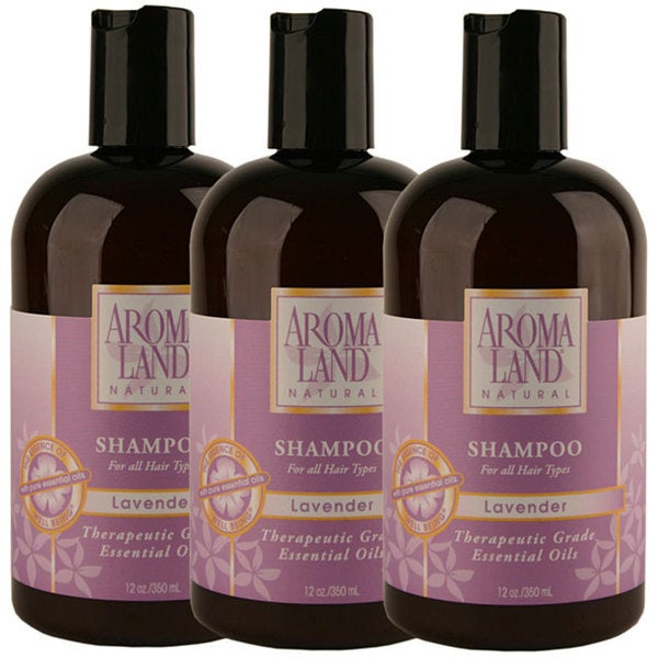 Aromaland Lavender 12-ounce Shampoo Lavender (Pack of 3)
