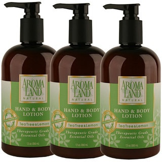 Aromaland Tea Tree and Lemon 12-ounce Lotions (Pack of 3)