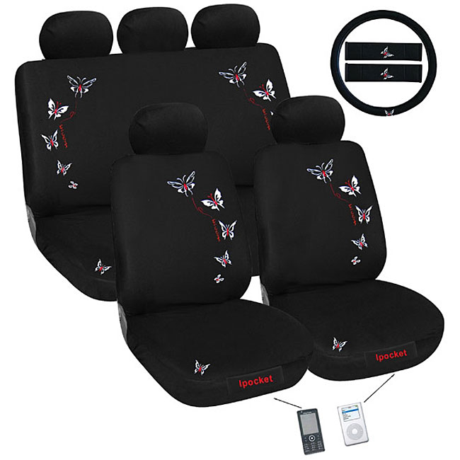 Butterfly iPocket 12-piece Automotive Seat Cover Set