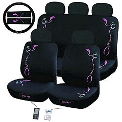 Dolphin 12-piece Universal Fit Seat Cover Set (Airbag-friendly)