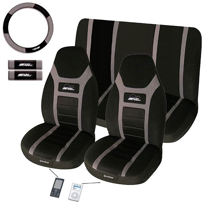 Super Speed Grey 7-piece Seat Cover Set