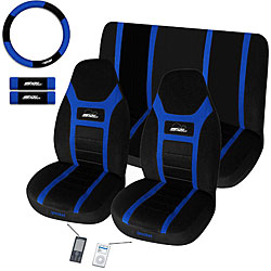 Super Speed Blue 7-piece Universal Fit Seat Cover Set (Airbag-friendly)