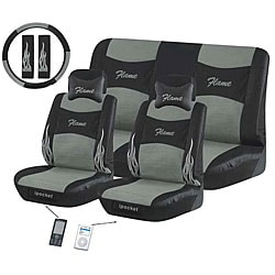 Flame Grey 11-piece Automotive Seat Cover Set