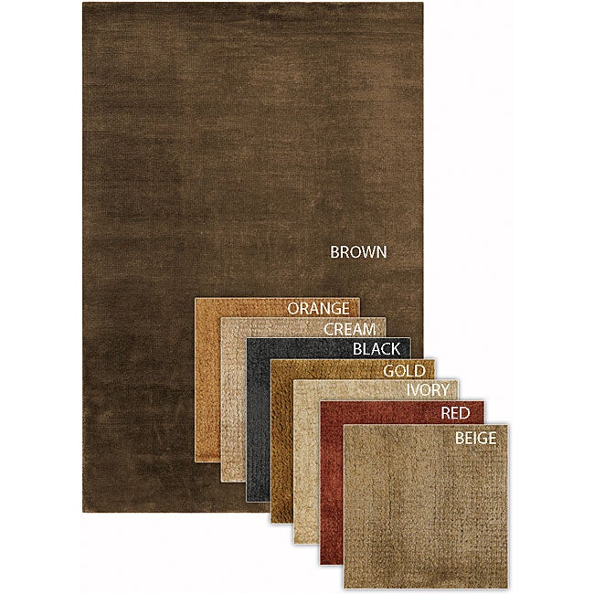 Artist's Loom Hand-woven Contemporary Solid Natural Eco-friendly Jute Rug (5'x7'6)