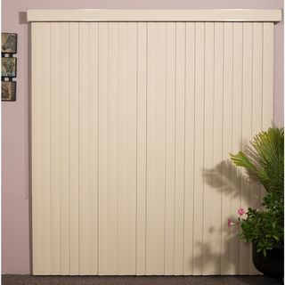 """Vertical Blinds - Havana 3 1/2"""" Textured Vinyl (72 Inches Wide x 5 Custom Lengths) with Valance"""