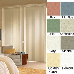 "Vertical Blinds - Havana 3 1/2"" Textured Vinyl (80 Inches Wide x 5 Custom Lengths) with Valance"