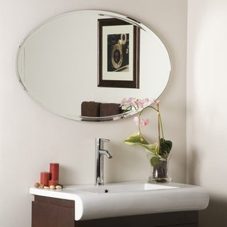 Link to Oval v-grooved Framed Mirror - Clear - A/N Similar Items in Decorative Accessories