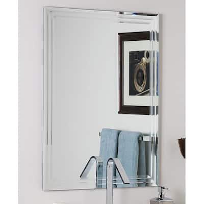 Decor Wonderland Frameless Tri-bevel Wall Mirror