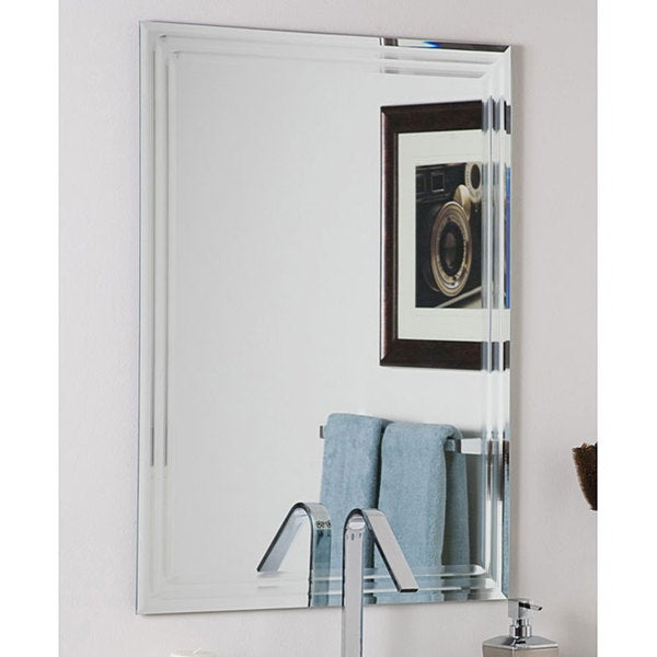 Decor Wonderlad Frameless Tri Bevel Wall Mirror