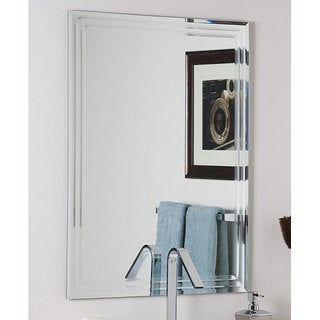 Decor Wonderland Frameless Tri-bevel Wall Mirror