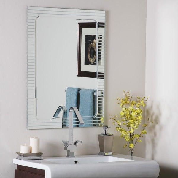 Frameless Deco Mirror