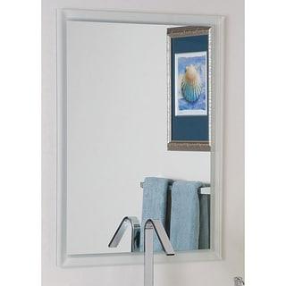 Frameless Etch Border Mirror