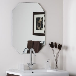 Frameless Octagon Scallop Beveled Mirror - Silver - A/N