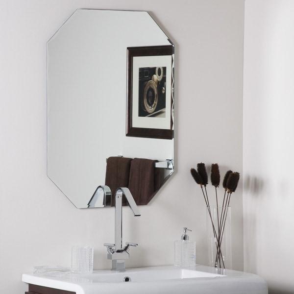 Frameless Octagon Scallop Beveled Mirror