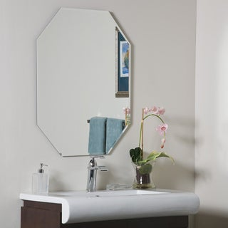 Link to Frameless Octagon Beveled Mirror - 23.5 x 31.5 x.5 Similar Items in Decorative Accessories