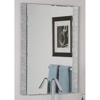 Frameless Molten Wall Mirror - Silver - A/N