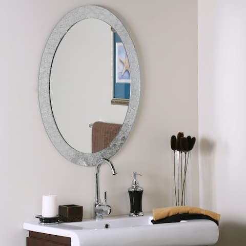 Frameless Designer Wall Mirror - Silver - A/N
