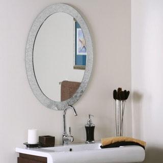 Frameless Designer Wall Mirror. Oval Mirrors   Shop The Best Brands Today   Overstock com
