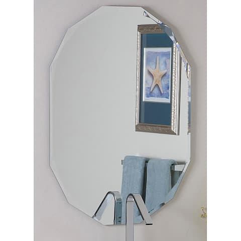 Frameless Diamond Wall Mirror - Silver - A/N