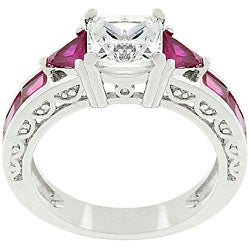 Kate Bissett White Goldplated CZ Regal Ring