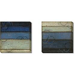 Gallery Direct DeRosier 'Blue Spectrum' Gallery Wrapped Art Set