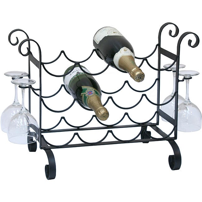 Metal Counter Wine Rack