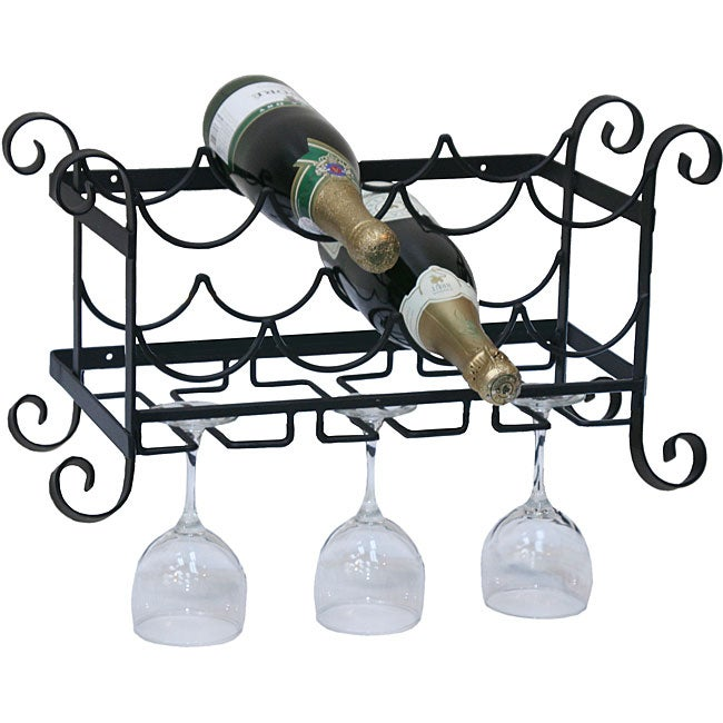 Handcrafted Wall Metal Wine Rack