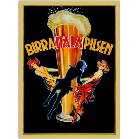 'Birra Itala Pilsen' Framed Art - Multi