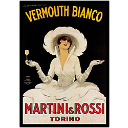 Marcello Dudovich 'Martini & Rossi' Canvas Art