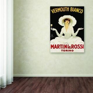 Marcello Dudovich 'Martini & Rossi' Canvas Art