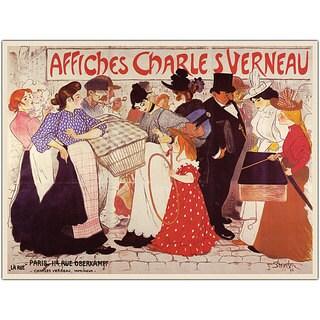 Steinlen 'Affiches Charles Verneau' Framed Art
