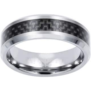 Men's Tungsten Carbon Fiber Band (8 mm)|https://ak1.ostkcdn.com/images/products/3517086/P11583137.jpg?impolicy=medium