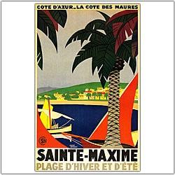 Roger Broders 'Sainte Maxime' Framed Art