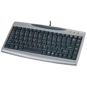 Solidtek Compact Keyboard Mini Scissors Keys with 2 USB Hubs KB-3001S