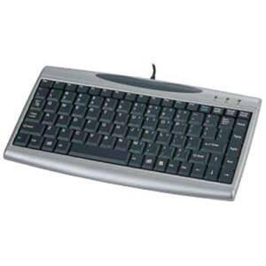 Solidtek Compact Keyboard Mini Scissors Keys with 2 USB Hubs KB-3001SH
