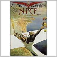 Charles Brosse 'Meeting Aviation Nice' Canvas Art