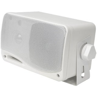 Pyle PLMR24 3-Way Weatherproof Outdoor Speaker Set - 3.5 Inch 200W Pair of Marine Grade Mount Speakers Indoor Outdoor Use