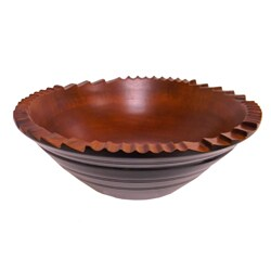 Handmade Mango Wood 'Portico Terrace' Bowl (India)