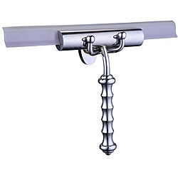 Decorative Brass Shower Squeegee with Wavy Handle, Replaceable Blade