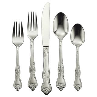 Oneida 'Azalea' Stainless Steel 45-piece Flatware Set (Service for 8)