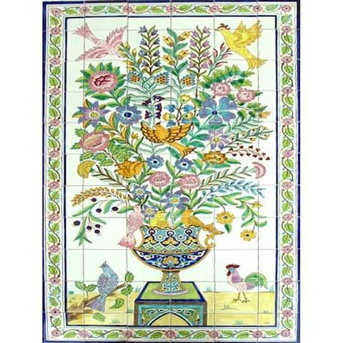 Decorative Rooster Exotic 66 Ceramic Panel Tiles