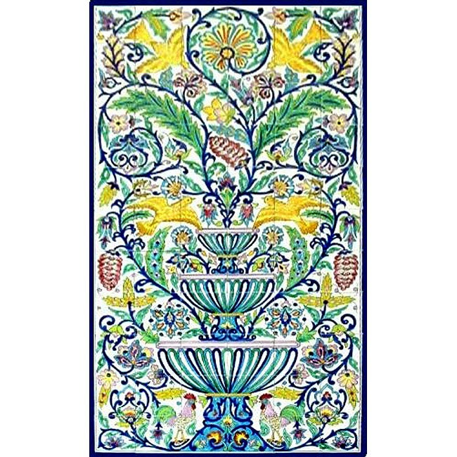 Shop Mosaic Moroccan Style 66 Tile Ceramic Wall Mural