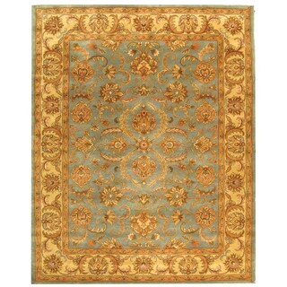 Safavieh Handmade Heritage Timeless Traditional Blue/ Beige Wool Rug (7'6 x 9'6)