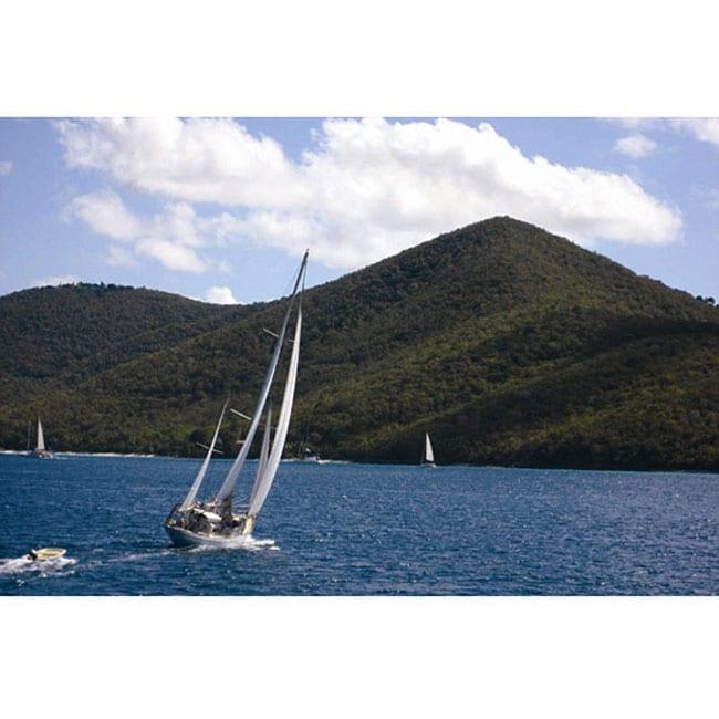 Freddi Betts 'Sailing Tortola' Canvas Art