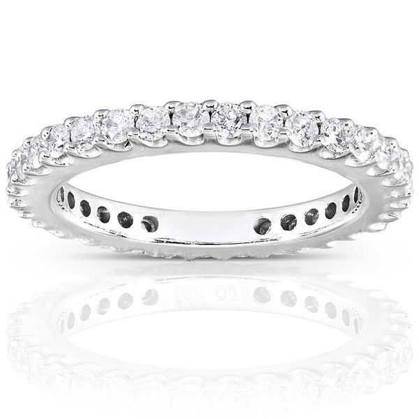 Annello by Kobelli 14k Gold 3/4ct TDW Round Diamond Eternity Band (G-H, I1-I2)