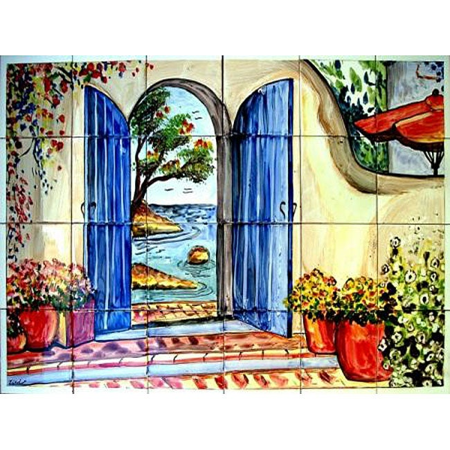 welcome atmosphere mosaic 24 tile wall mural free