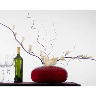 White Sword Lilies with Bamboo Vase